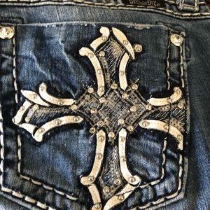 miss me size 31 waist jeans cross pockets
